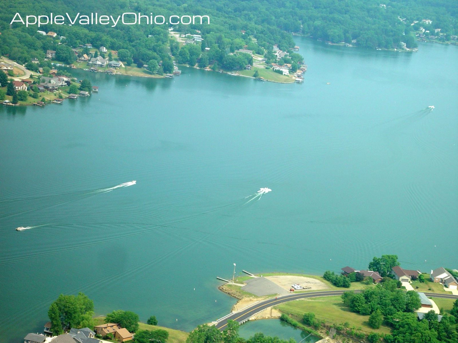 Aerial Photo Taken During an Airplane Flight Over The Apple Valley Lake