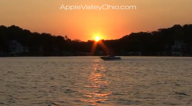 Apple Valley Lake Boating Sunset Photo by Sam Miller