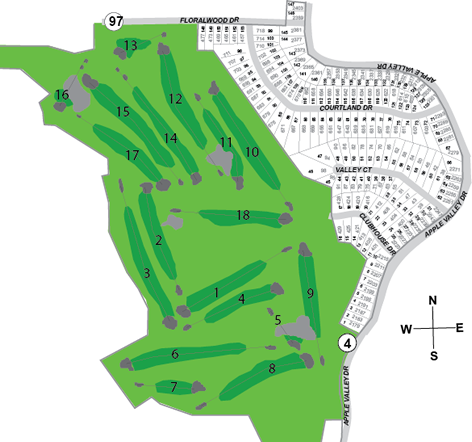 Fairway Hills Subdivision Map