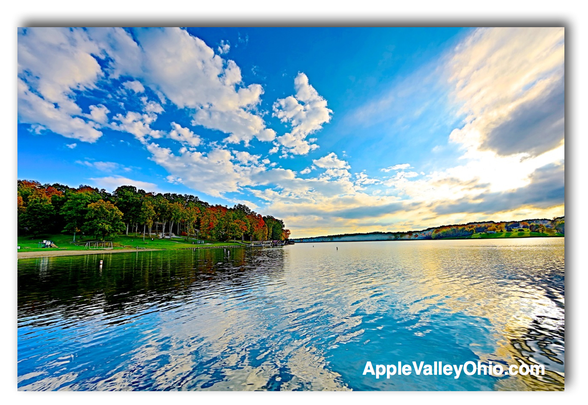 Apple Valley Lake Reflection of King Beach by Sam Miller
