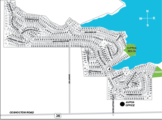 Orchard Hills Map