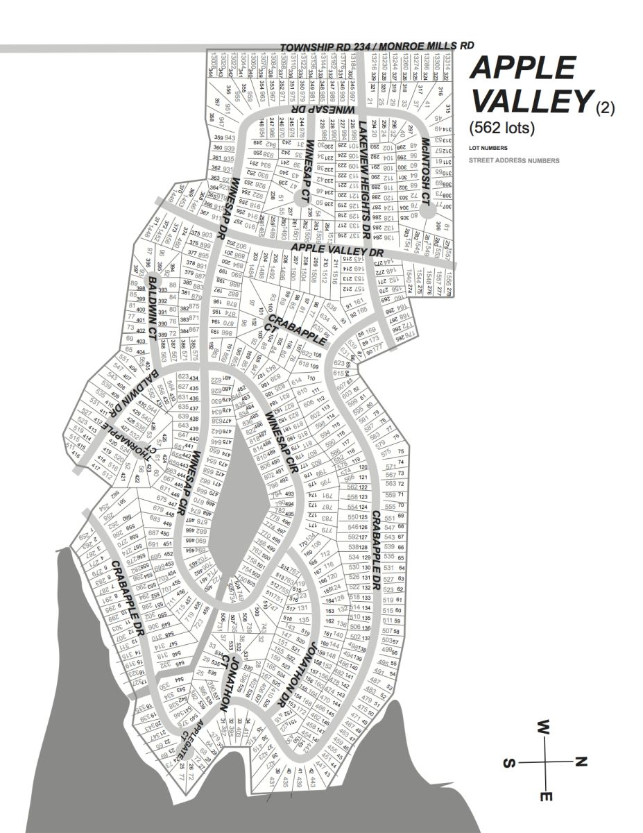Apple Valley Lake Subdivision