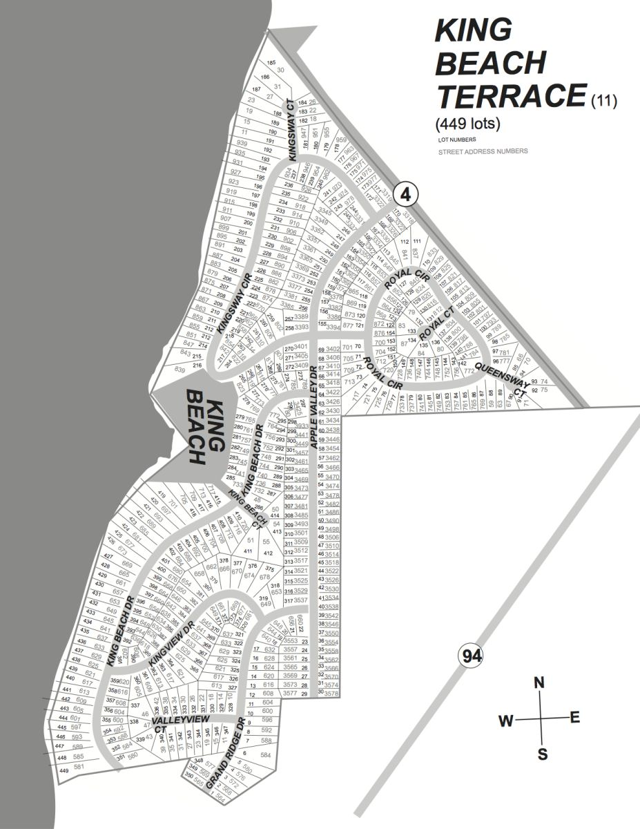 King Beach Terrace Subdivision