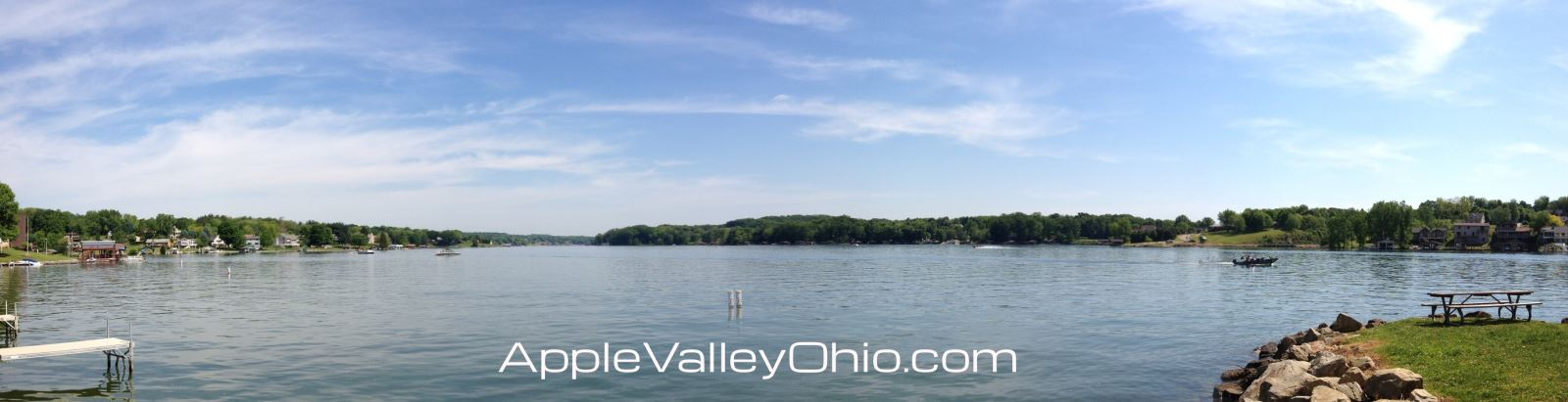 Panoramic Boating Photo taken on the Apple Valley Lake